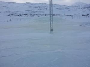 Iskappe ved Nuuk Lufthavn