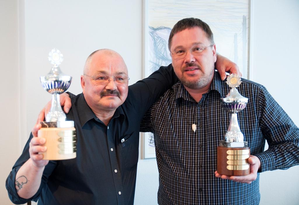 De glade vindere af Årets Lufthavn, Bo Qvist, og Årets Kvalitetspris, Bo Olsen